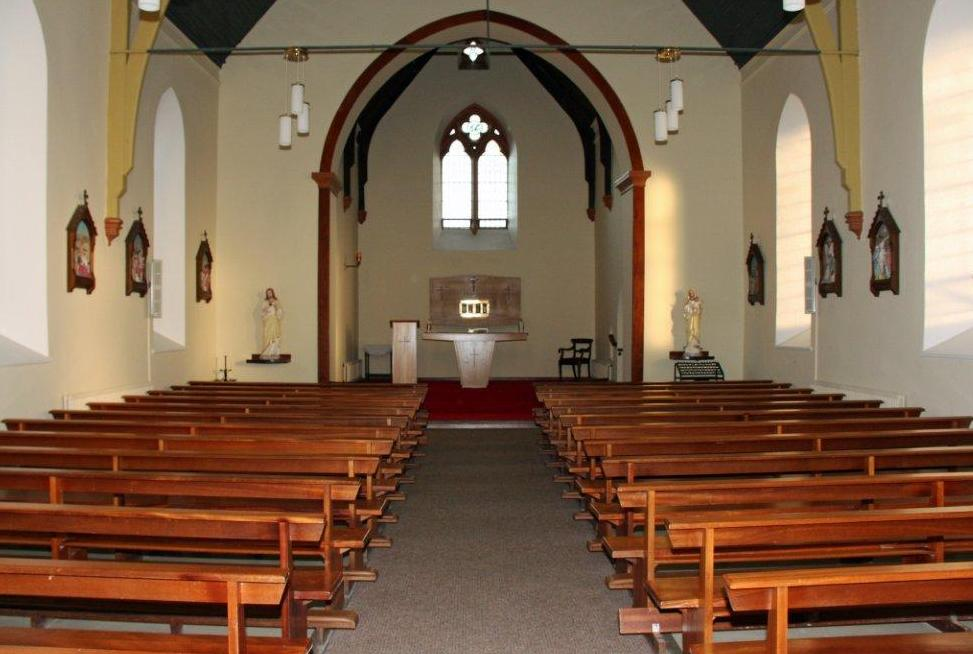 Church And Altar In St Columba's