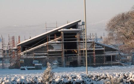 Construction In Snow