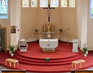Main Altar In St Mary's